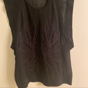 IRO cut out silk top